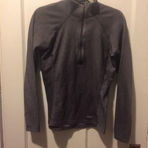 Patagonia brown gray pullover quarter zip medium